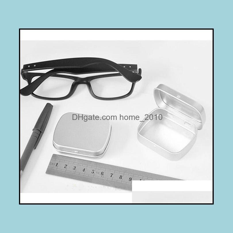 1000pcs small size hinge tin box square silver tin sealing plain tin box# 8209