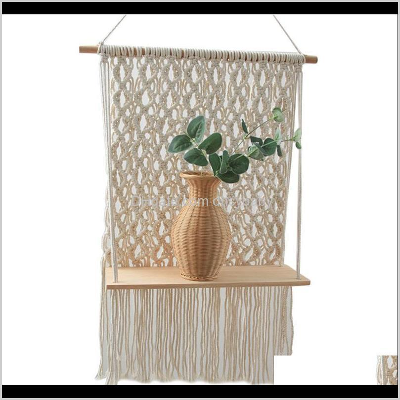 woven tapestry bohemian rack unique beige hand-woven tapestry home hotel wall hanging decoration drop shipping