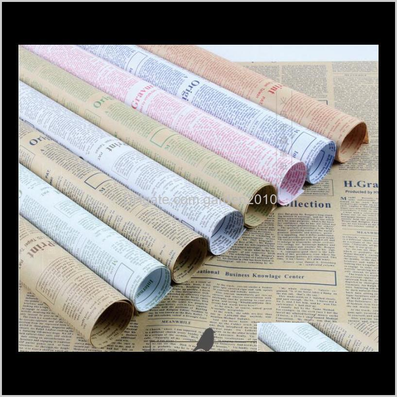 45 sheets retro nostalgic english word newspaper bouquet wrapping paper packaging paper packing & shipping business & industrial ha730