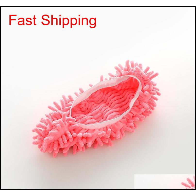 wholesale house slippers mopping shoe cover multifunction solid dust cleaner house bathroom floor shoes cover cleaning mop slipper 6
