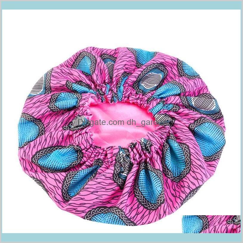 extra large size african pattern print cap women satin lined headwrap bonnets night sleep cap winter hat ladies turban