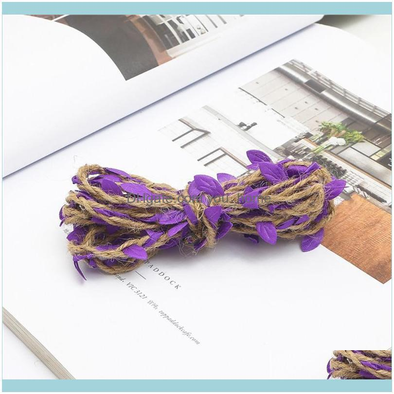 Simulation Green Leaves Weaving Rope DIY Wedding Birthday Decoration Rattan Gift Bouquet Packaging Decorative Flowers & Wreaths