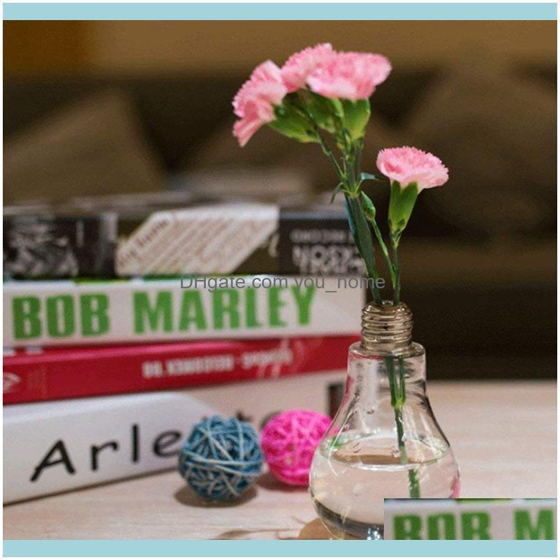 Transparent Glass Bulb Shape Table Vase for Plants Flowers Home Garden Wedding Decoration1