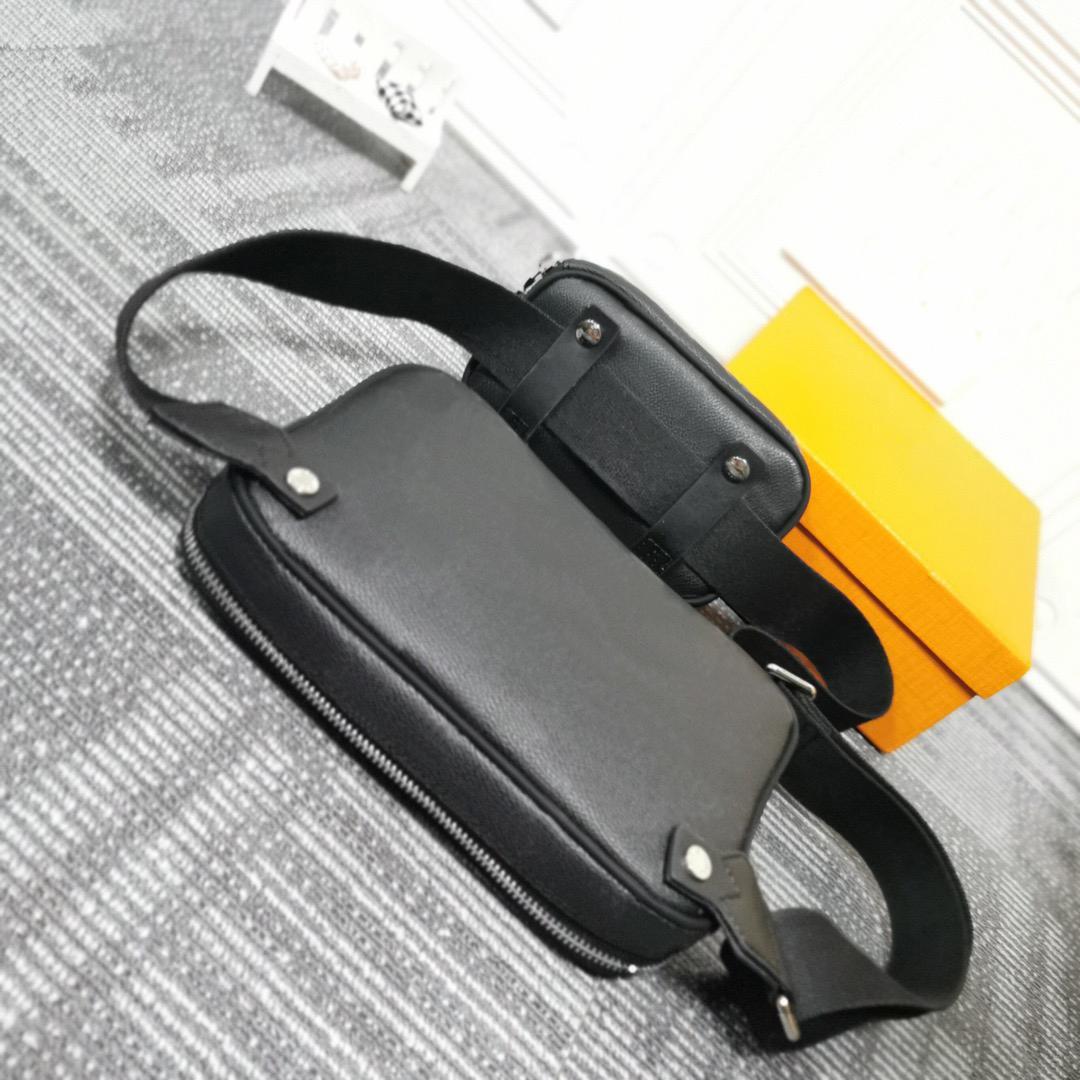 Человек новинка холст дизайнер моды крест кузов скрещивание сумка маленькие деньги 2 кусок сумки на плечо талии сумки # 50018