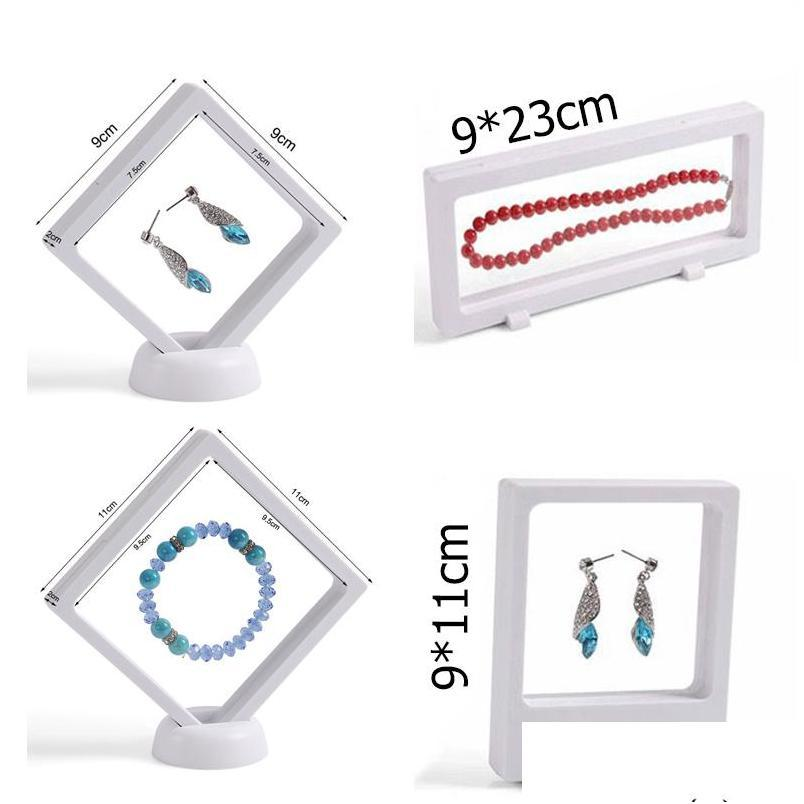 4pcs/lot bulk price transparent pet suspension window gift box watch genstone dismond coin necklace jewelry display stand holder rack