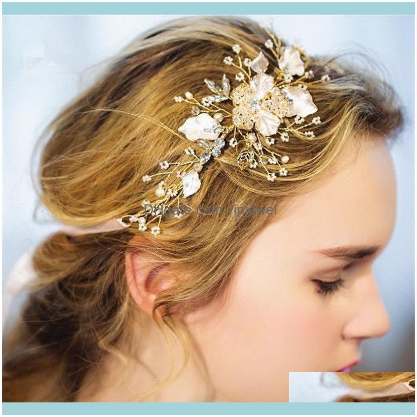 Wedding Bridal Rose Gold Headband Ribbon Crystal Rhinestone Hair Accessories Band Princess Crown Pageant Tiara Princess Queen Headpiece