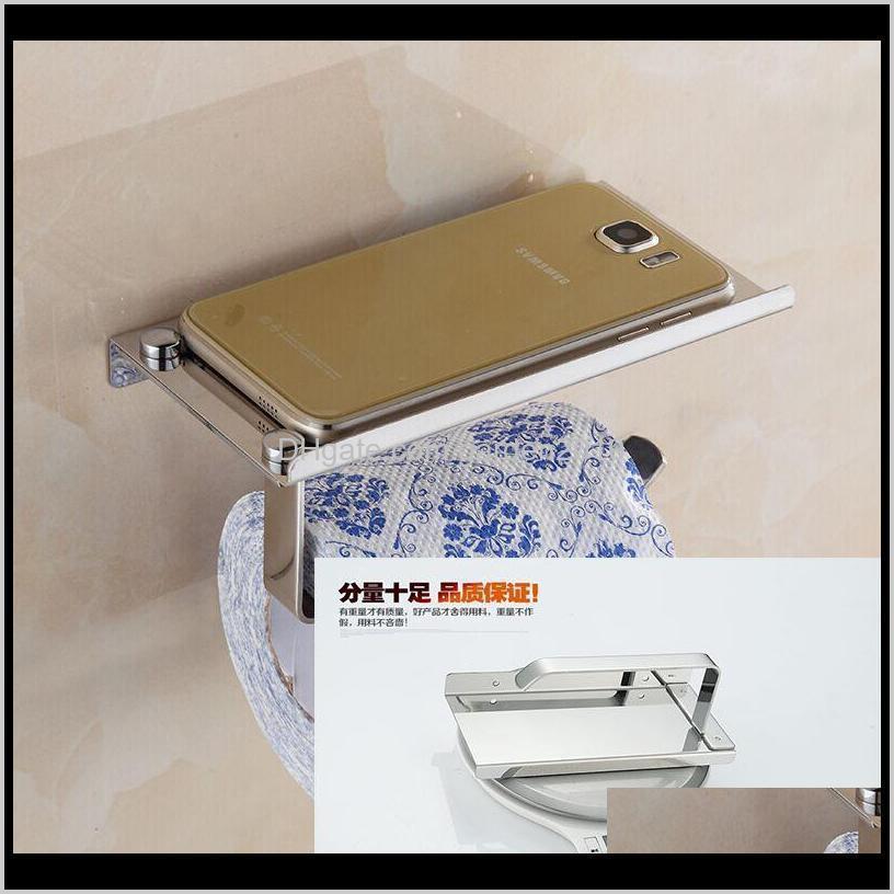 creative toliet paper holder mutifunctional bathroom hardware organizer stainless steel toilet roll paper mobile phone holder