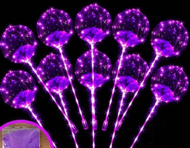 led flashing balloon transparent luminous lighting bobo ball balloons with feather 3m string balloon xmas wedding party decoration