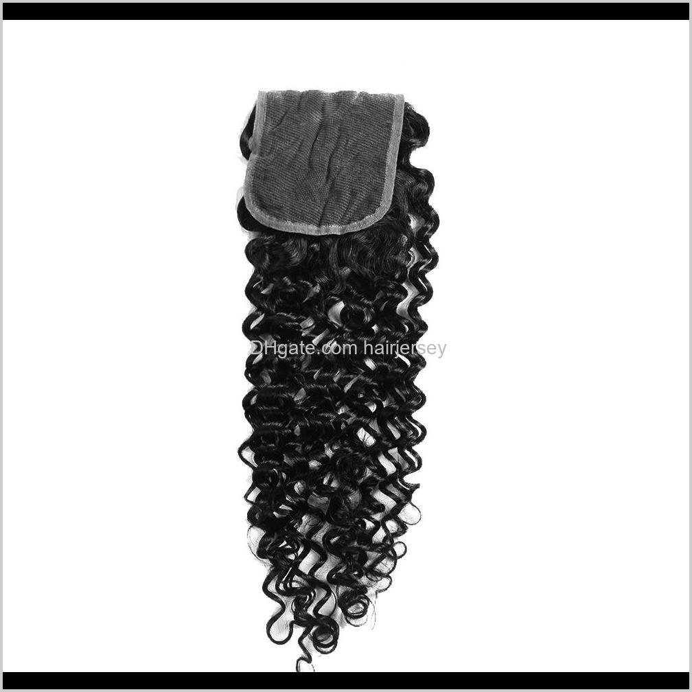 indian virgin hair with closure deep wave water wave kinky curly hair loose wave human hair extensions 3 or 4 bundles with closure