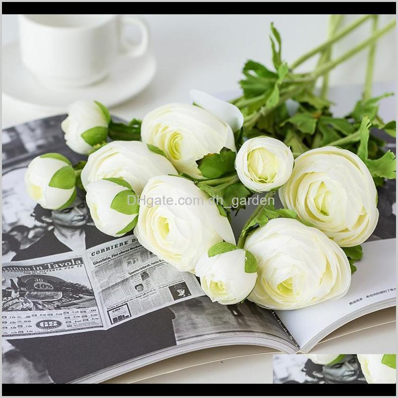 nordic single branch camellia european ins style simulation flower rural interior decoration coffee table decoration flowers