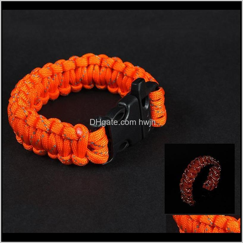 Outdoor Camping Paracord Rope Umbrella Nine Core Reflective Braided Whistle Escape Emergency Gadgets