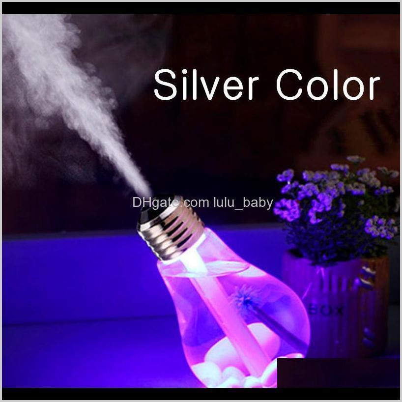 bulb designer essential oil diffuser ultrasonic led usb port plant tree 3 colors for option aroma diffuser difusores humidifier usb