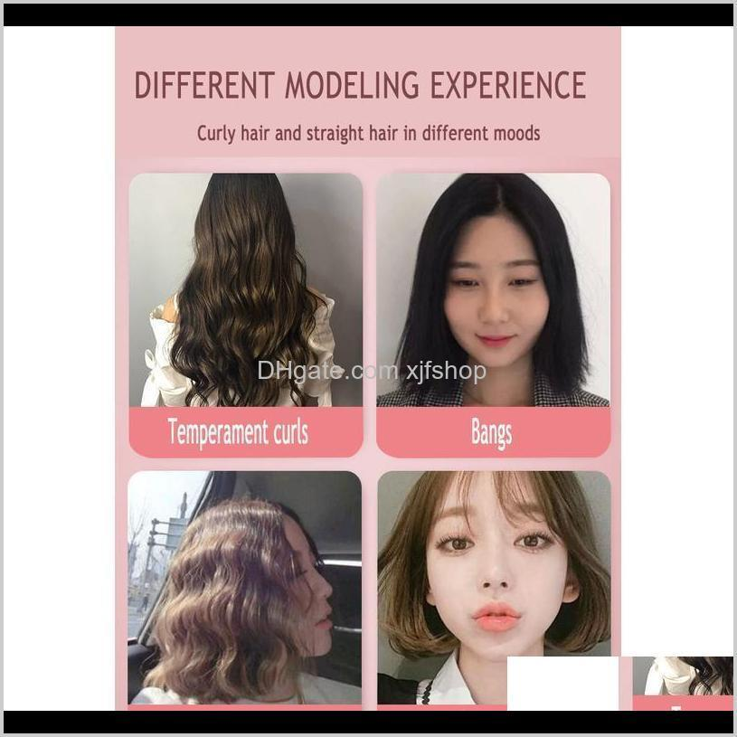 2020 new mini hair straightener curling hair clipper hair crimper curling iron curly iron straightener brush f jllsap