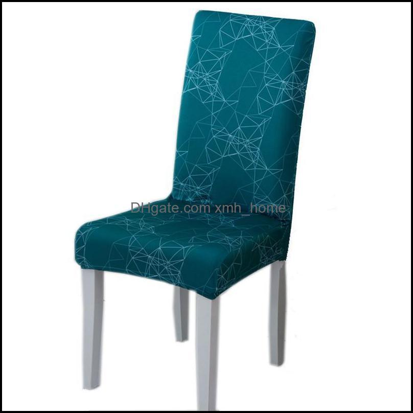 Chair Covers Household Half-packed Dining Chairs Cover Half Printed Elastic Beach Silla Gamer Fundas Para Sillas
