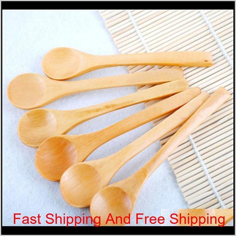 wooden spoons tea coffee milk honey tableware condiment utensil cooking sugar salt small spoons kids ice cream tableware tool
