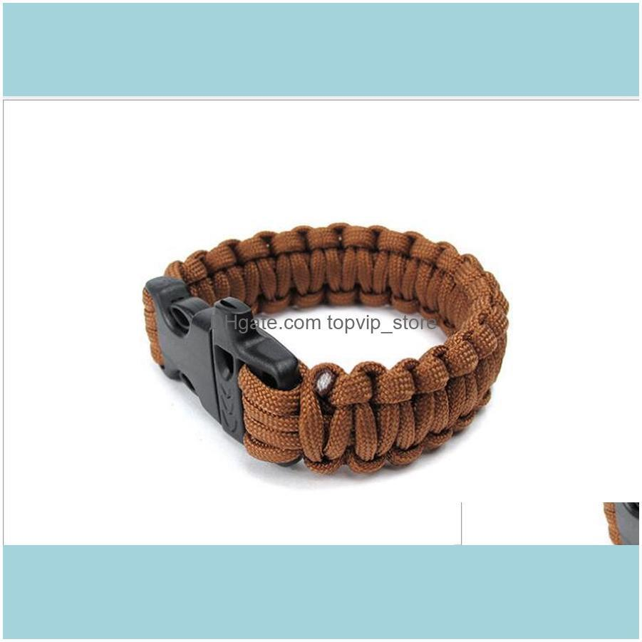 Paracord Parachute Cord Lanyard outdoor emergency Survival Bracelet self rescue paracord wristband adult sports whistle Bracelet