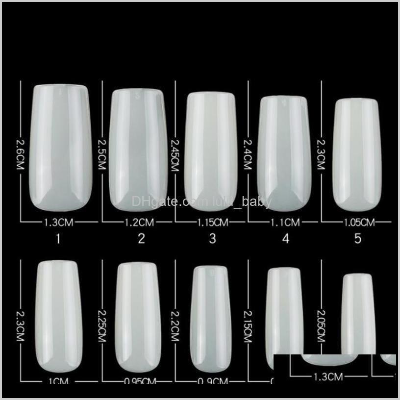 clear natural artificial nail tips 500 pcs detachable french false nails profession practice display full cover manicure le1625
