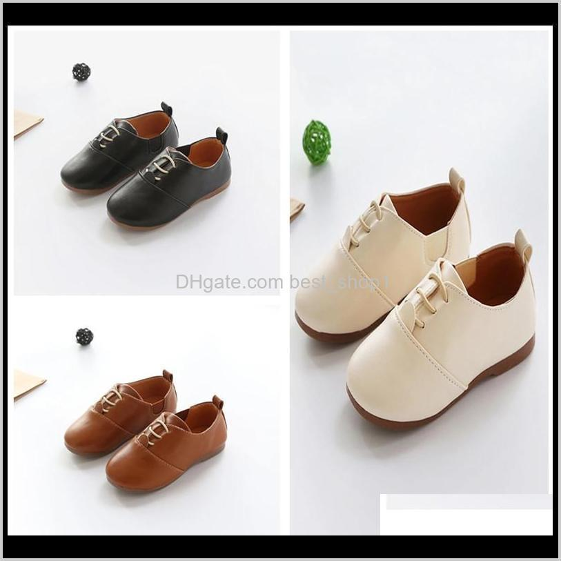 baby kids shoes newest spring autumn korean children sneaker british style soft bottom pu leather shoes baby princess toddler shoes