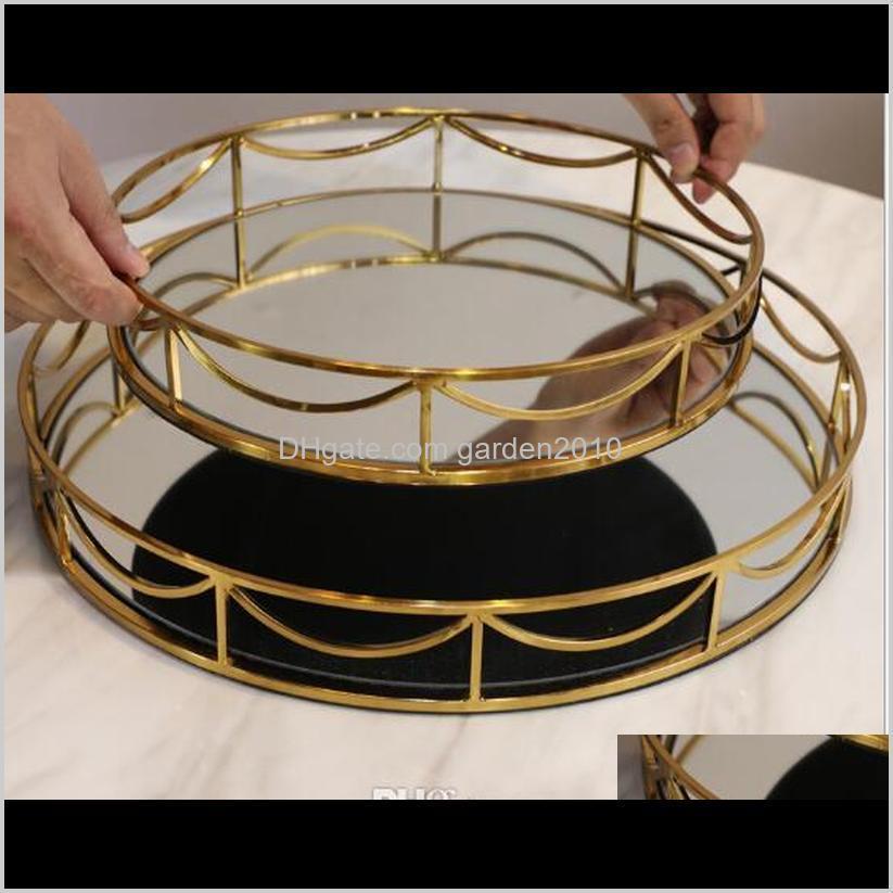 metal mirror tray pallet decoration flexible design model room hotel club receipt modern simple metal mirror pallet