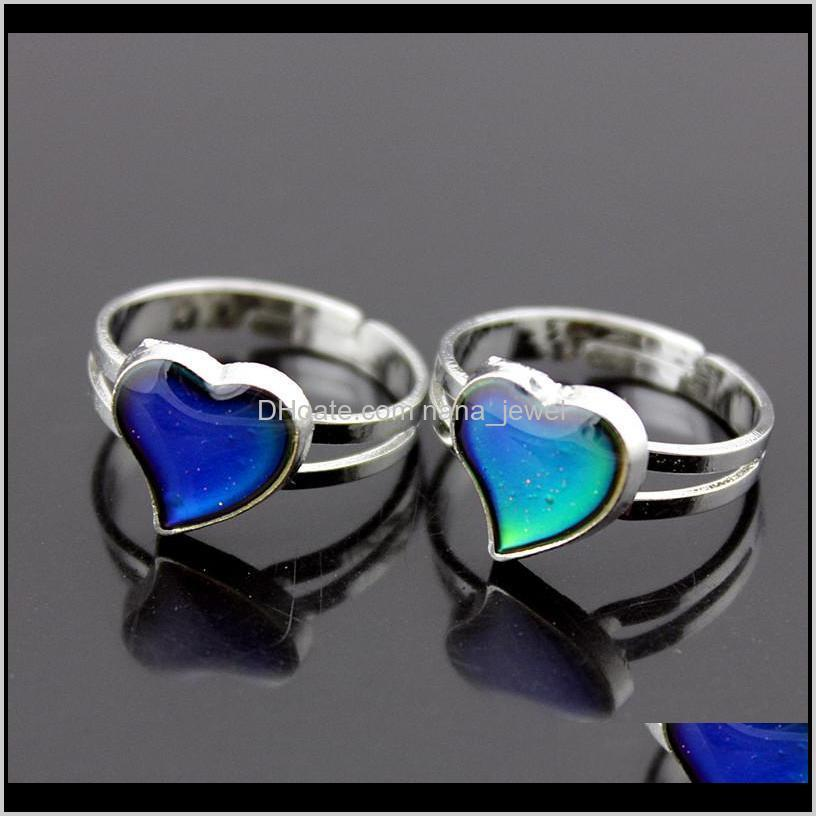 100 start adjustable mood band ring changes color to your temperature reveal your inner emotion cheap fashion jewelry