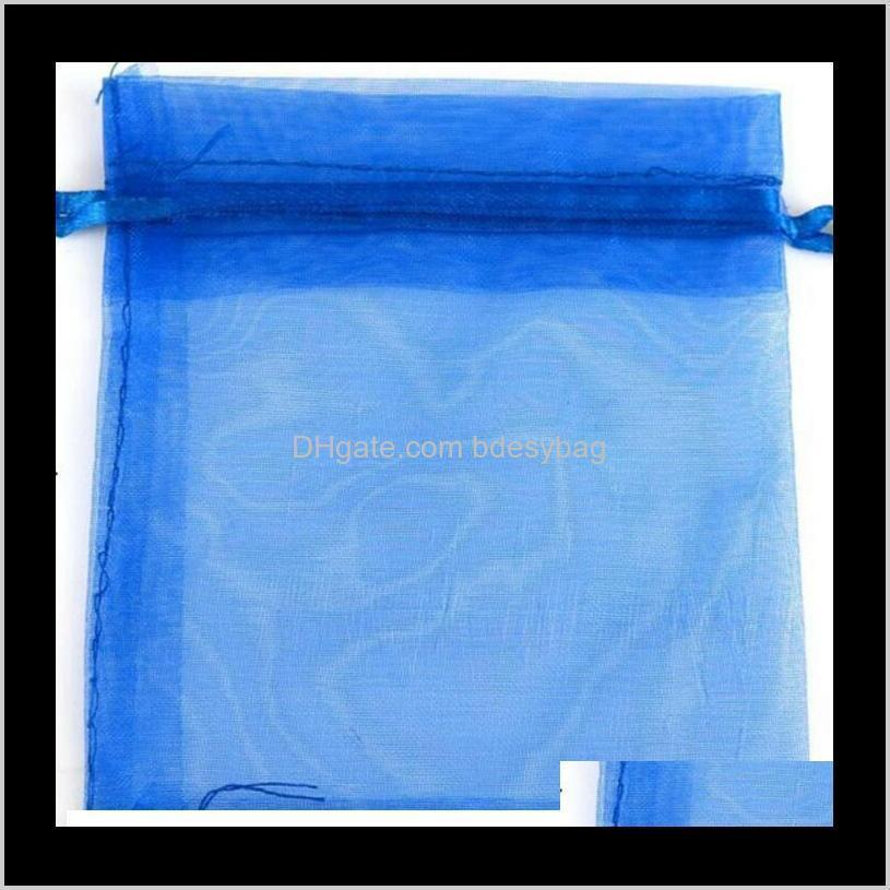2020 7x9cm wedding decorations baby shower organza bags jewelry gifts party favor candy birthday supplies packaging