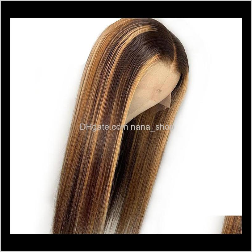 brazilian highlight 4/27 straight 4x4 wig peruvian body loose deep human hair lace front wigs non-remy pre-plucked