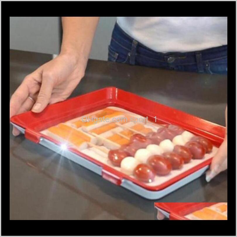 vacuum fresh-keeping preservation tray storage container creative healthy food food sealed crisper lid kitchen tool dinner plate
