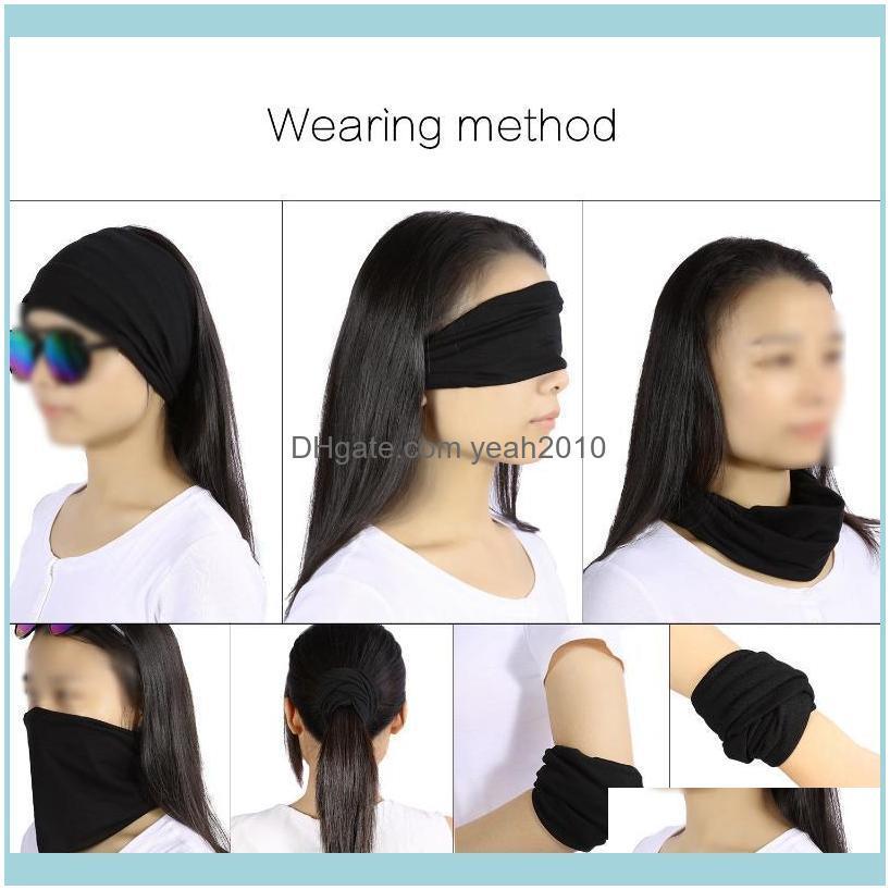 Women Men Cotton Wide Elastic Stretch Wristband Headband For Yoga Gym Running Sports (Black) Sweatband