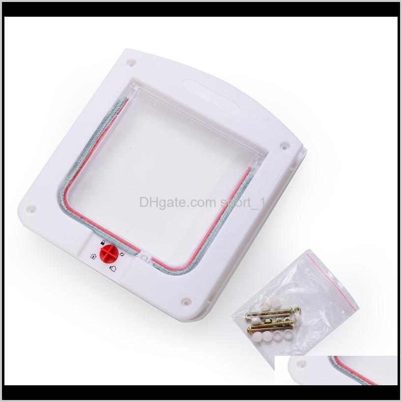 new durable plastic 4 way locking magnetic pet cat door small dog kitten waterproof flap safe gate safety supplies