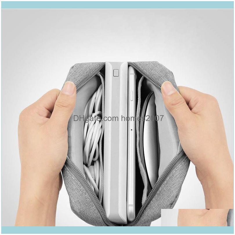 Mini Cellphone Data Line Power Supply Portable Travel Digital Storage Bag Earphone Cosmetic Pouch Storage Organizer Bag Case
