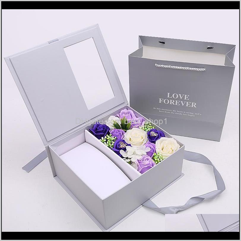 jewelry packaging boxes artificial flowers valentines day gifts mothers day christmas soap flower gift boxes xd24193
