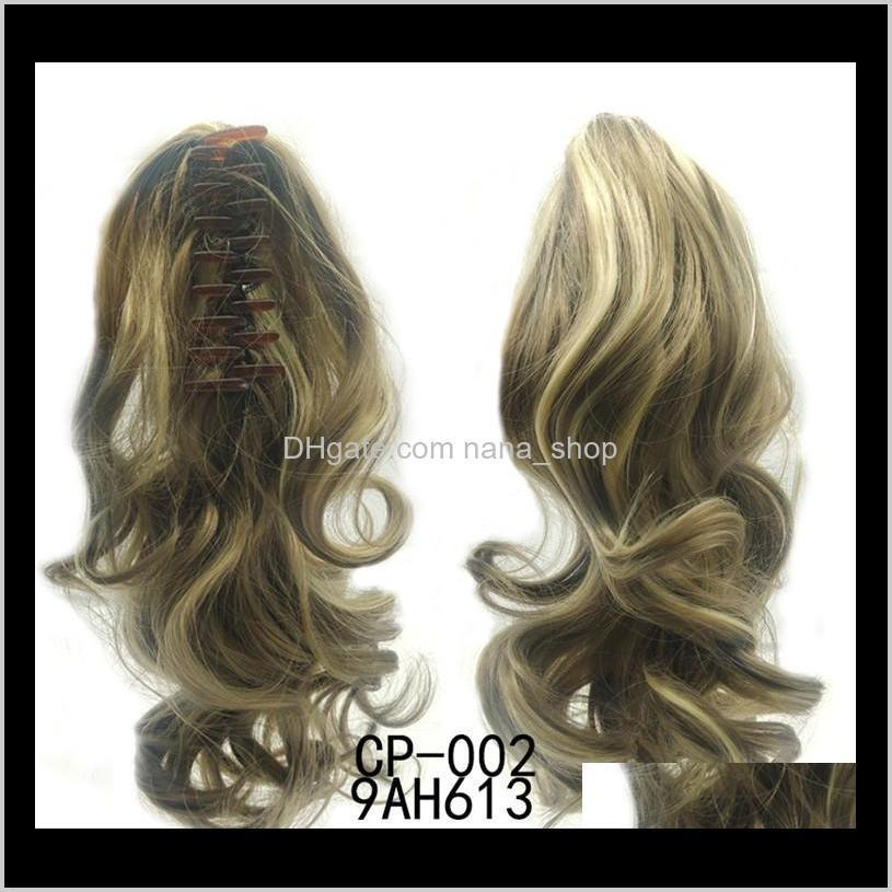 40cm long synthetic per i capelli claw ponytail 16 colors simulation human hair extensioin ponytails bundles cp-222