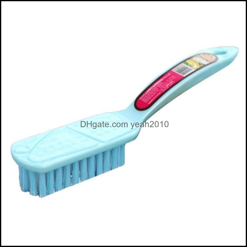 Long Handle Shoe Brush Simple Multifunctional Plastic Household Cleaning Board brush Laundry Washing Brush Mixed Color Delivery 57