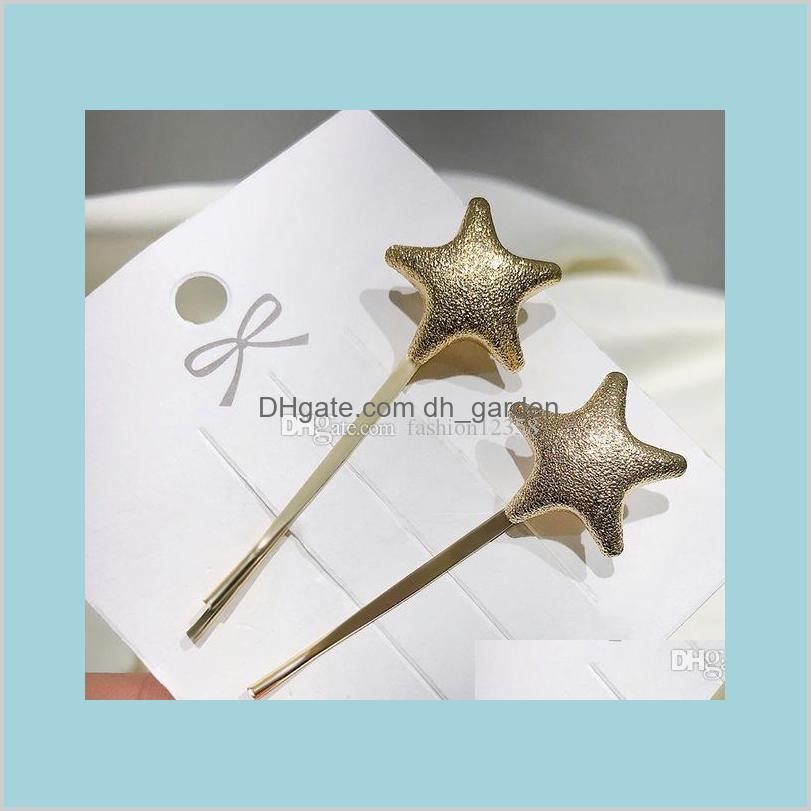 new fashion hair pins star heart round triangle hairpin hair jewelry headband hair jewelry women girls accessories gift