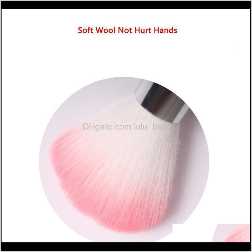 6 color nail cleaning nail brush tools art care manicure pedicure soft remove dust small clean dust brush for care