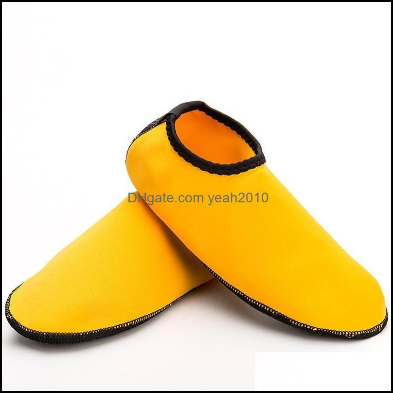 Sports Socks 1 Set Of Solid Color Lycra Breathable Non-slip Beach Snorkeling Shoe Cover Swimming Diving