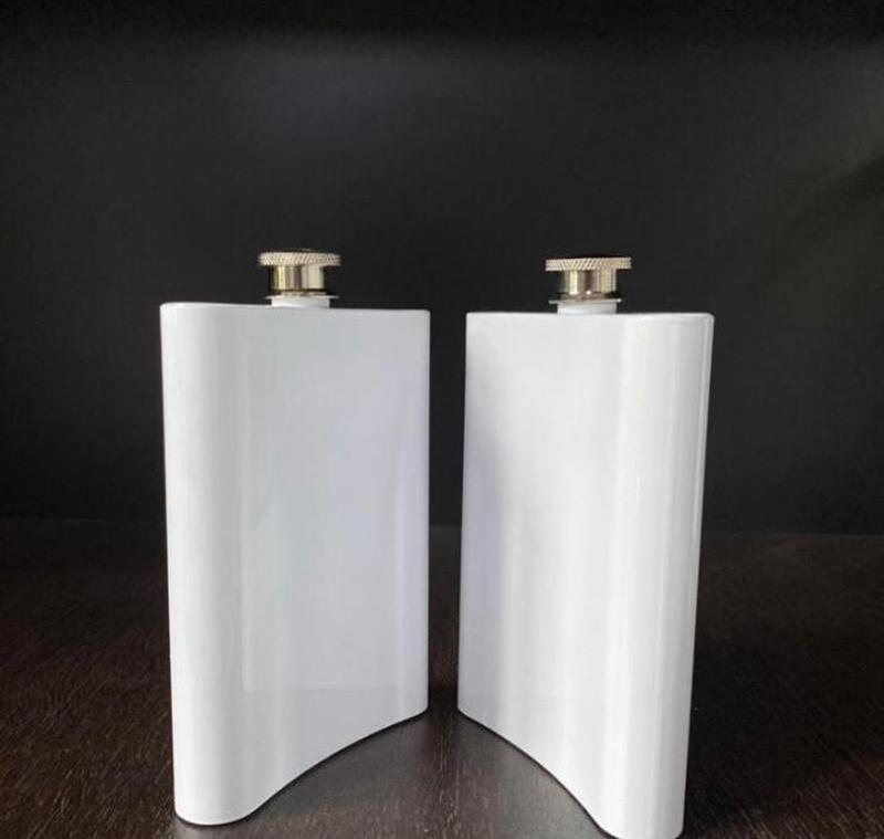8oz blank sublimation hip flasks stainless steel water bottle double wall diy 8oz hip flasks outdoor drinkware sea shipping cca12612