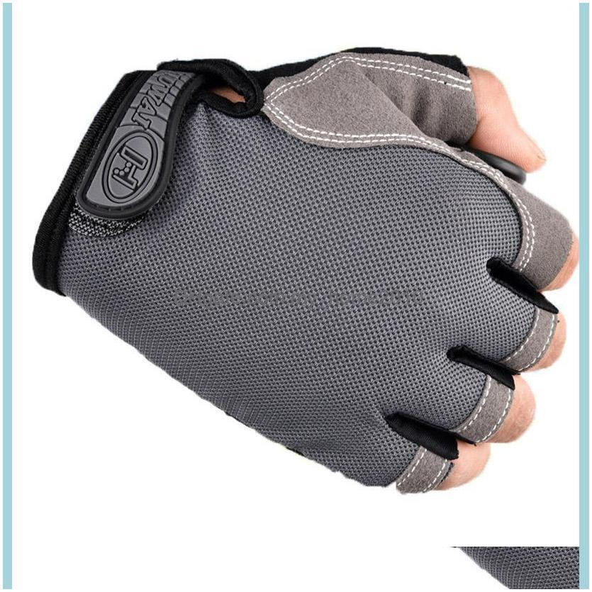 Cycling Gloves Bicycle Bike Anti Slip Breathable Half Finger Short Sports Accessories For Men Women