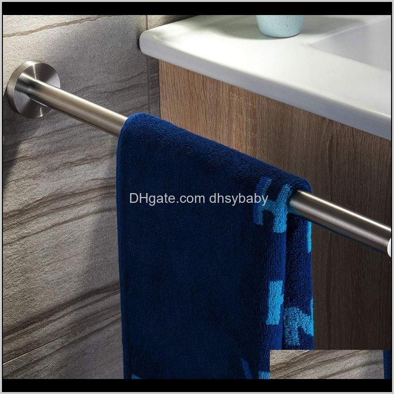 41cm stainless steel towel rack towels holder bar rail hanger for home bathroom1