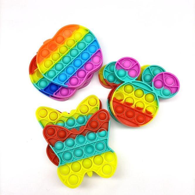 Borboleta Bubble Push Poppers Fidget Fidget Pads Sensory Toys Pop Autism Precisa Especial Necessidades Stress Relisor Aumentar Foco Brinquedo Squeu Squeeze para Crianças G11801