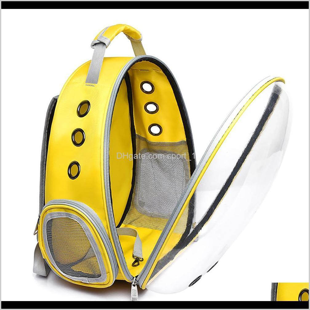 cats and small dogs transparent space capsule breathable shoulder bag pet outside travel portable carry backpack dogs cat carrying