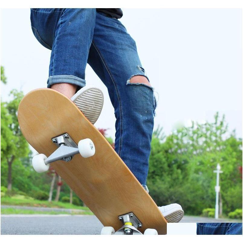 7 layers Maple Skateboard Deck DIY 8 inch Natural Wood Blank Double Concave Longboard Dance Board Beginner Dropship