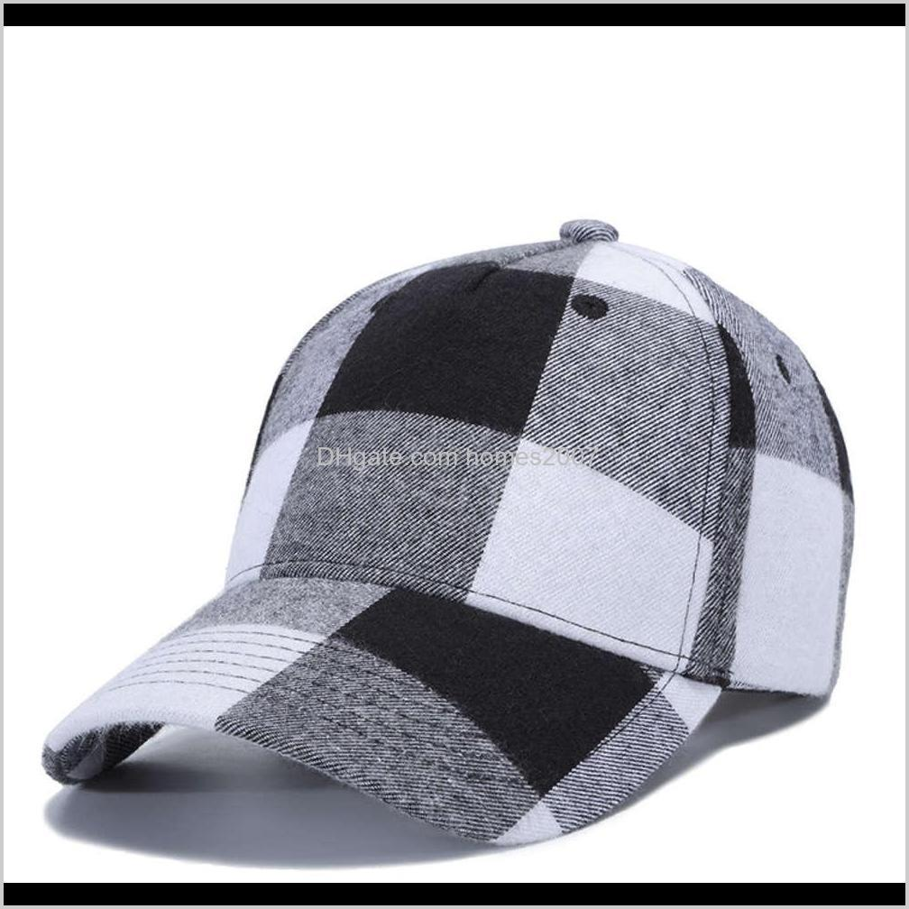 11 colors plaid designer hats baseball caps beanie baseball cap for mens womens casquette adjustable party design hat wx9-1839