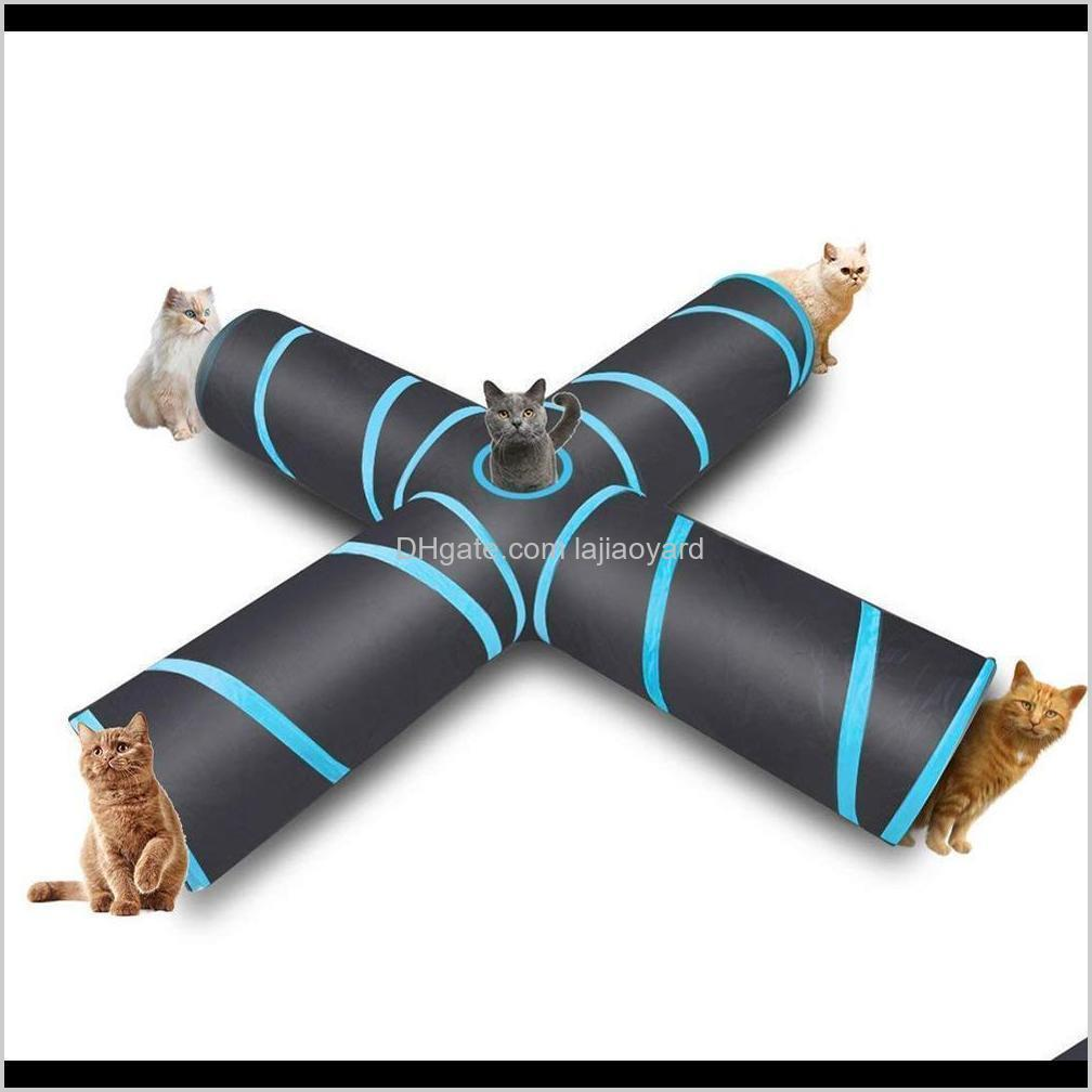 cat tunnel foldable collapsible cat toy tube with storage bag cat training toy interactive tunnel tube fun toy for rabbit wmtdrb