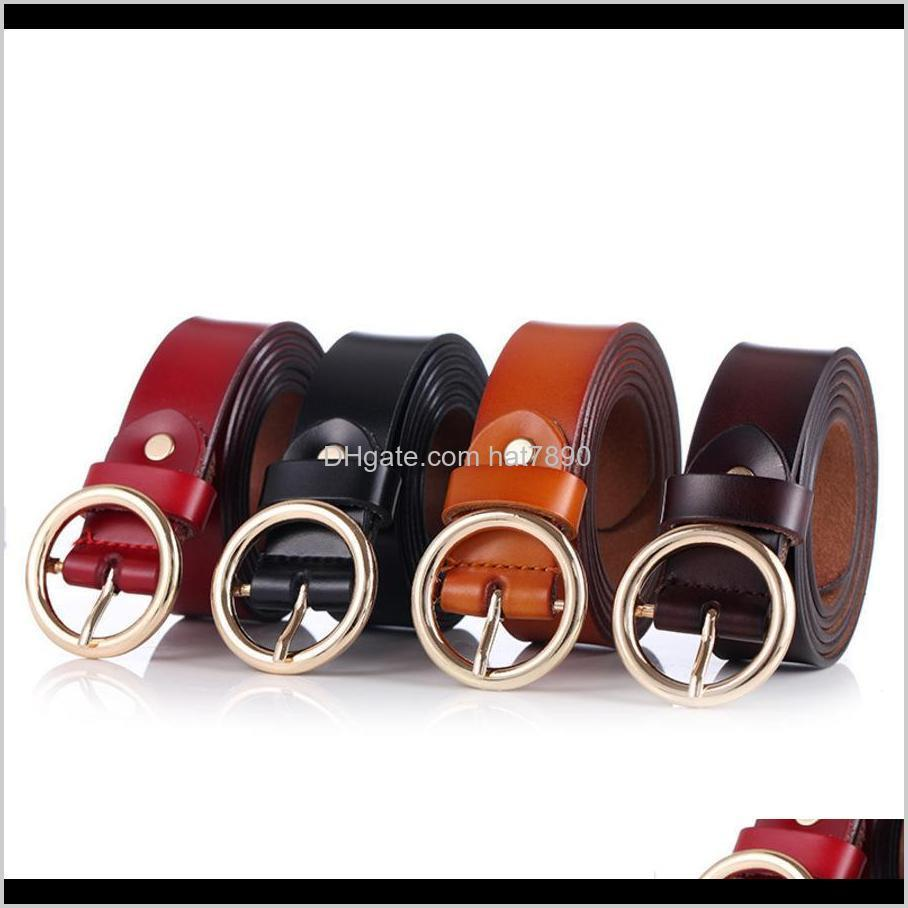 and Autumn Lady Spring Circle Pin Buckle Thin Korean Version Simple Slim Fit Pure Cow Leather Belt Waist 3j39