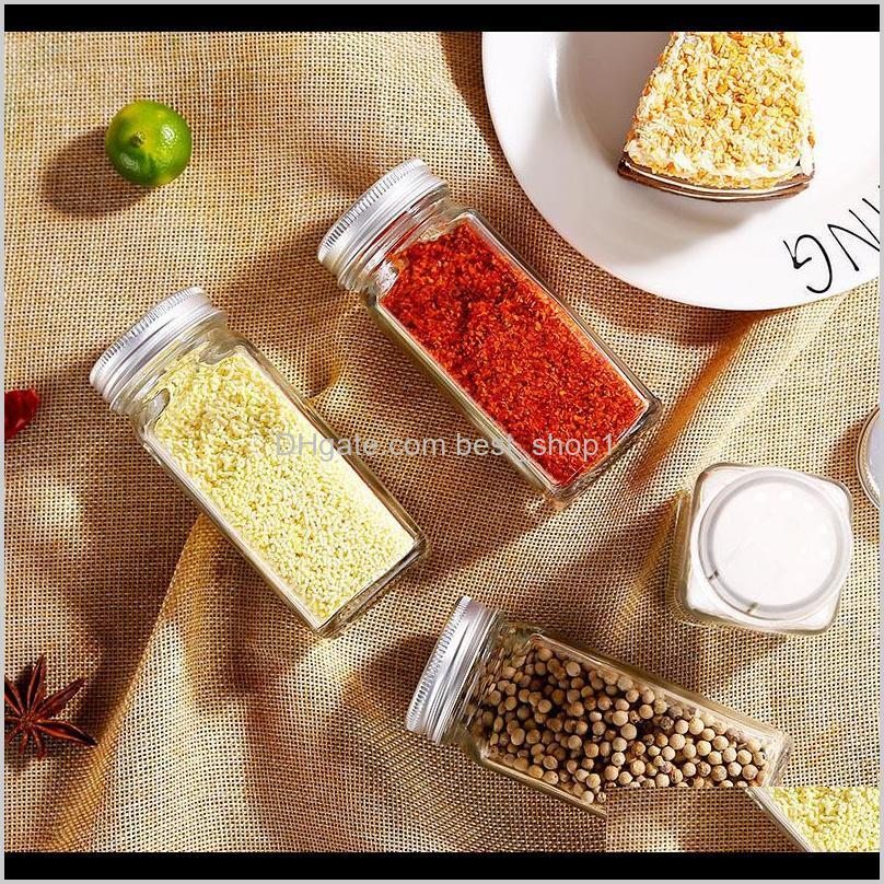 spice jars kitchen organizer storage holder container glass seasoning bottles with cover lids camping condiment containers vt1372