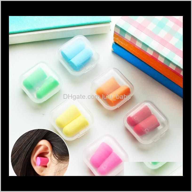factory price! new sale foam sponge earplugs great for travelling & sleeping reduce noise ear plug randomly color
