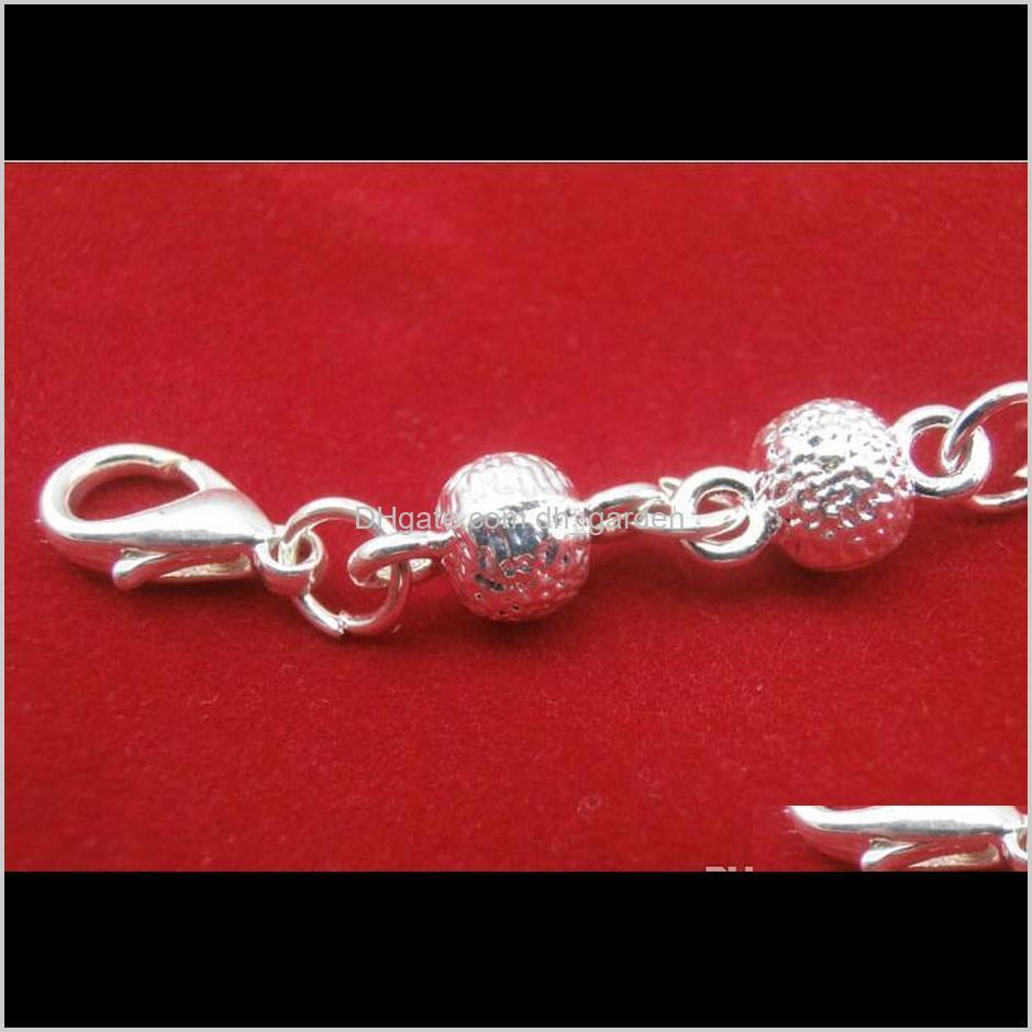 hot sale silver ball charm bracelet bell link bracelets bangle girls prom party jewelry best gifts for women