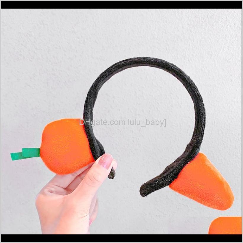 10pcs/lot shark headband carrot headband headwear funny face wash press hairpin korean version hair accessories