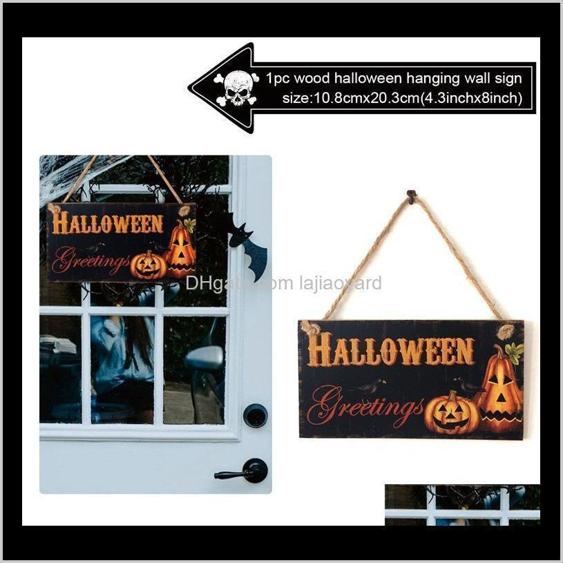 halloween hanging signs trick or treat skull witch horror party supplies halloween decoration for home halloween door decor wmtsuo